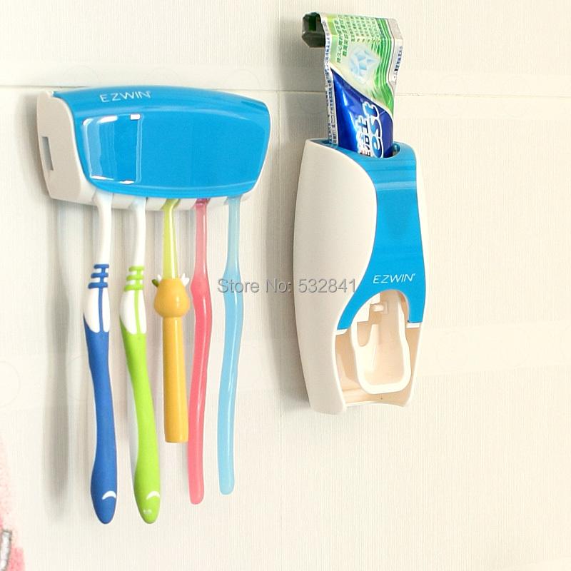 Free Shipping Dispenser toothpaste device belt toothbrush holder multifunctional toothbrush holder set dental frame 34114(China (Mainland))