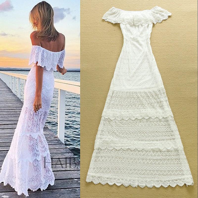 Белые летние платья и сарафаны
