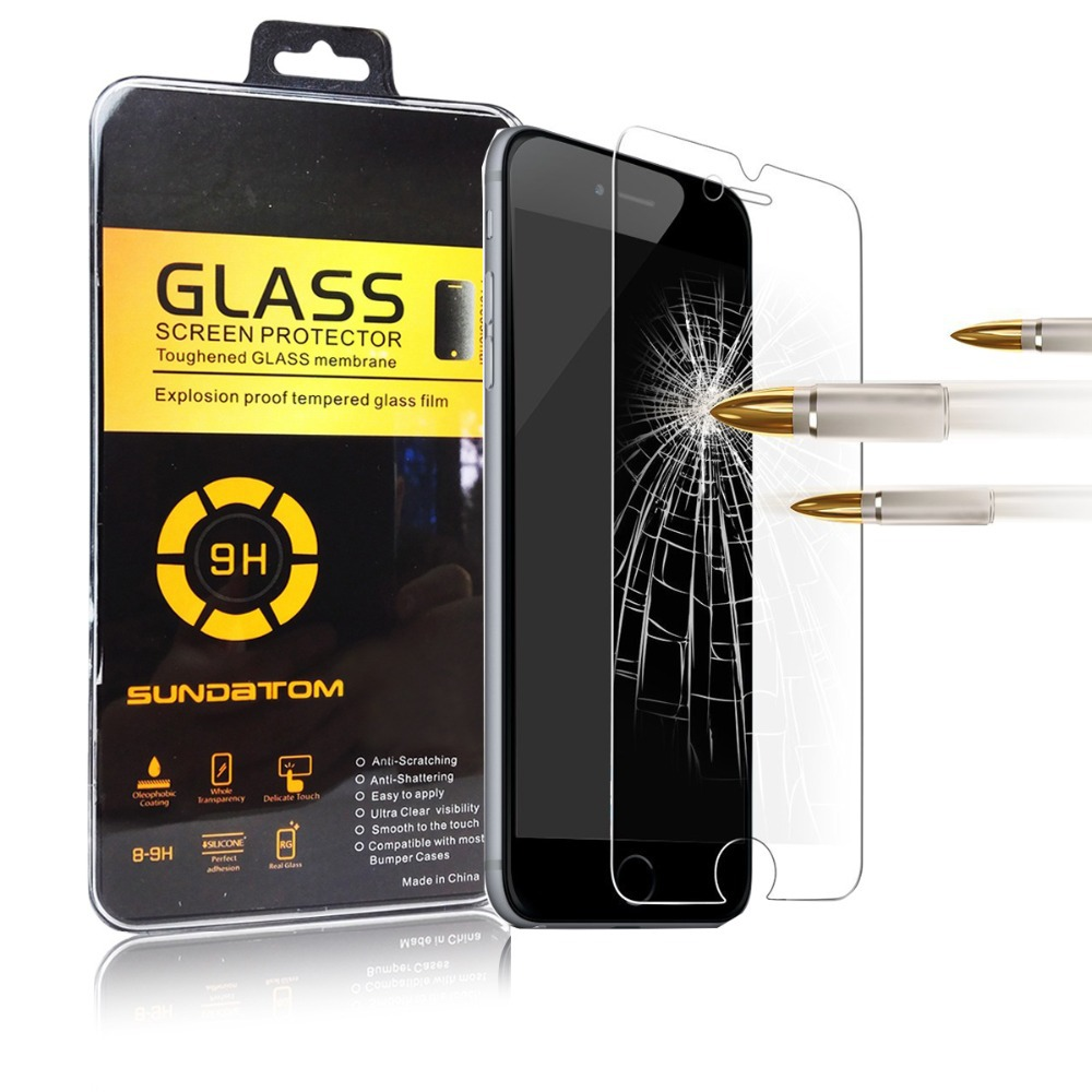 free shipping ultra thin premium Tempered Glass screen protector for iPhone 6 plus 6G 5.5 inch retail package