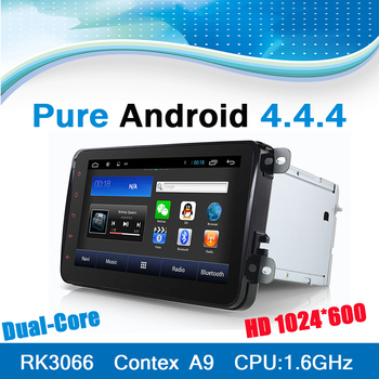 Double din VW Car DVD player for VW Skoda with Android 4.4.4 System 8 inch screen 3G WiFi