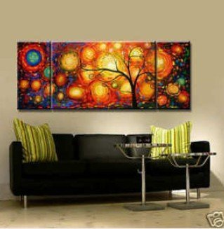 MODERN ABSTRACT CANVAS ART OIL PAINTING 4 Guaranteed 100% Free shipping 100% handmade original directly1