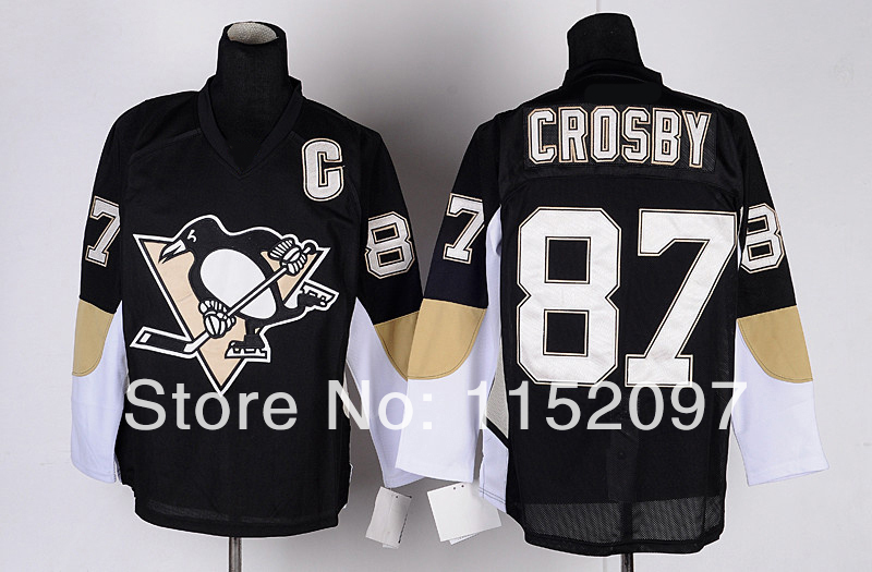 Cheap 2014 Pittsburgh Penguins Sidney Crosby Youth Jerseys #87 Kid Alternate Home Team Color Black Hockey Uniform 100% Embroider(China (Mainland))