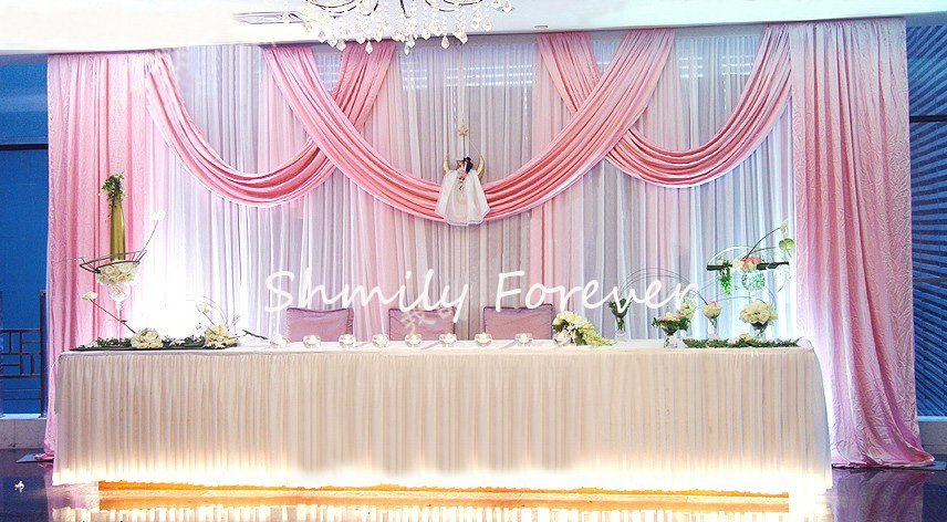 Stage Wedding Design New Design White Pink Wedding