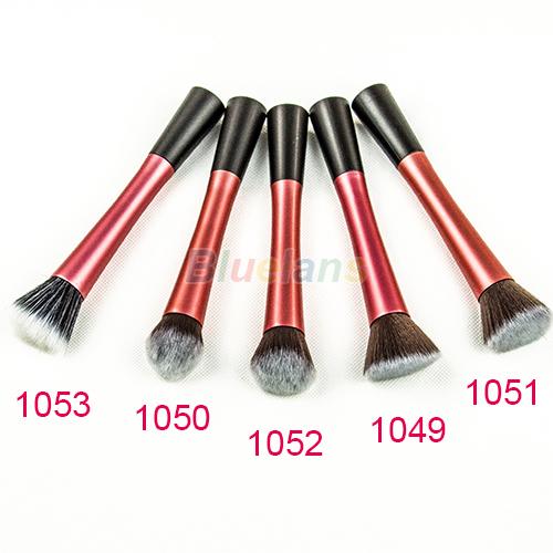 3 Colors 5 types New Women Professional Powder Blush Cosmetic Stipple Foundation Brush Makeup Tool 5 Models Free Shipping 01VK(China (Mainland))