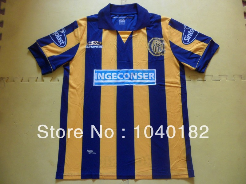 Free Shipping Argentina Rosario Central team home jersey exclusive supply(China (Mainland))