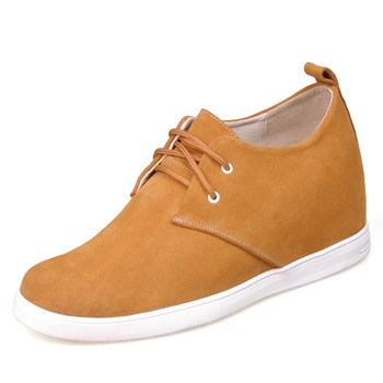 9091A - Yellow suede leather comfortable shoes-grow taller 7 CM, -7 colors for you.