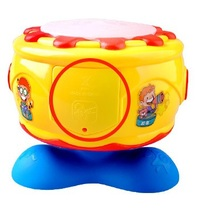 New fashion hot sale baby toys multifunction toy rotary drum children's music hand drum beat musical juguetes instruments(China (Mainland))