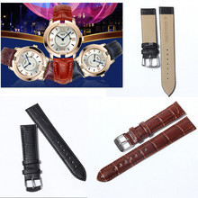 1PC 20mm Genuine Leather Strap Steel Buckle Wrist Watch Band Soft