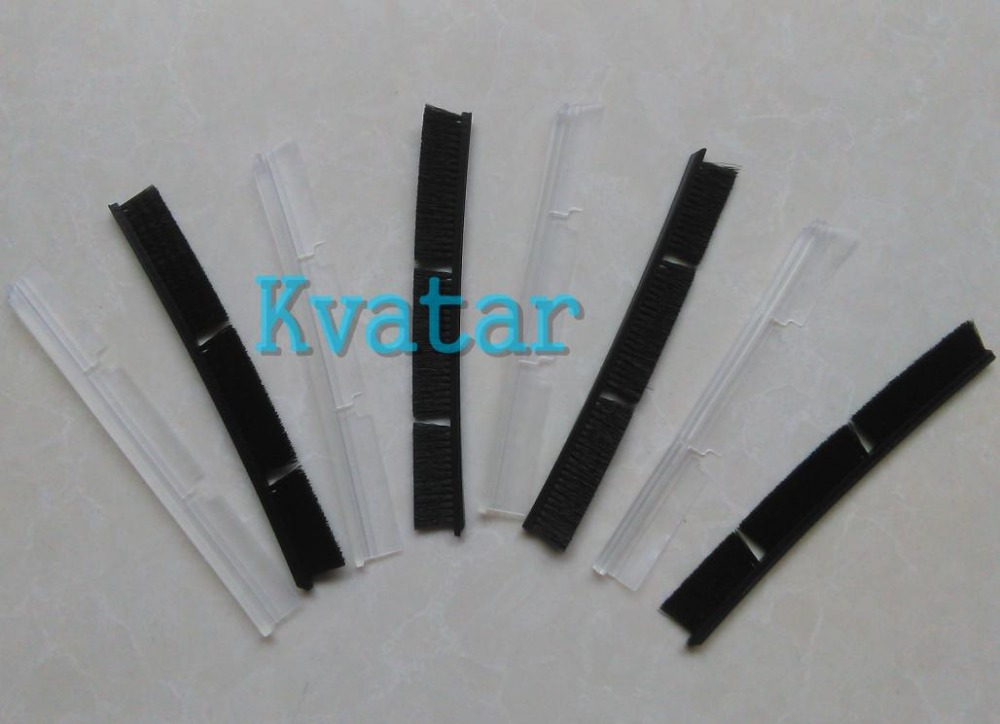 4 x Silicone Blades + 4 x Brushes for Neato Botvac Connected Combo Brush 70e 75 80 85 D75 D80 D85 Replacement Automatic Robots(China (Mainland))