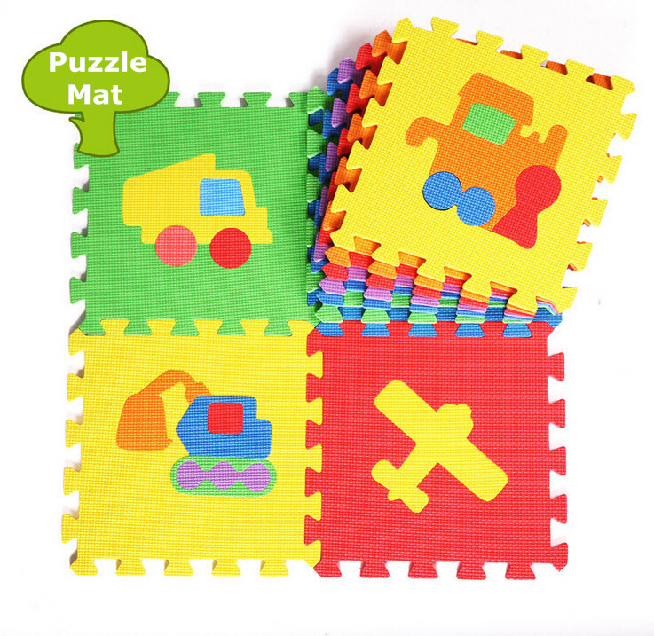 Promotion 10 pcs/ lot traffic play mat child cartoon EVA puzzle floor mat baby eva foam patchwork floor mats EDD005(China (Mainland))