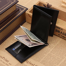 Excellent Quality Brand Men Wallet Short Skin Wallets Purses Fashion Synthetic Leather Money Clips Sollid Thin Wallet For Men(China (Mainland))