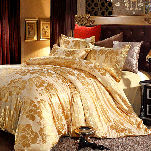 S&V Mordern Luxury bedding sets designer bed linen Christmas duvet covers gold bedclothes cotton sheets king size Quality 4pcs.(China (Mainland))