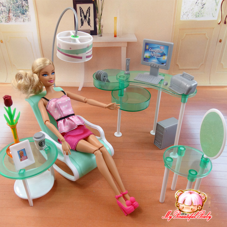 Barbie Room: 2015 New Summer Computer Room For Barbie Doll, Fashion