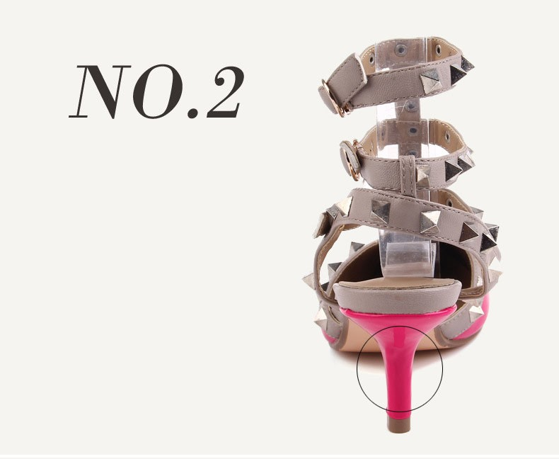 2016 New Design  Femme Zapatos Mujer Shoes Woman Pumps High Heels Ladies Shoes Ankle Strap Summer Shoes Red Black ZX2.5