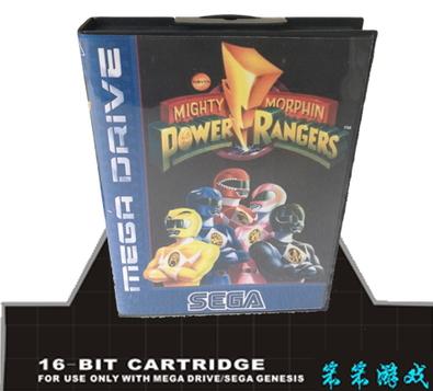 Sega MD games card - Mighty Morphin Power Rangers EU version For 16 bit Sega Megadrive Genesis Game Cartridge System with box(China (Mainland))