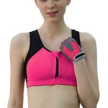 Womens Seamless Racerback Fitness Stretch Padded Sports Bra Fitness Stretch Workout Short Tank Crop Tops Y5