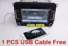 RCD510 Free Shipping USB MP3 6CD Car Radio Stereo Golf Jetta 5 6 Tiguan Passat CC + USB CABLE FREE(China (Mainland))