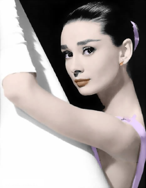 Free shipping hand painted modern oil painting on canvas for home decor as unique gift Audrey Hepburn practice of dance M467(China (Mainland))