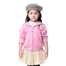 Moomin girls sweatshirt Children Fashion Pink character hoodies Regular length 100-150 Cotton sudaderas ninos free shipping(China (Mainland))