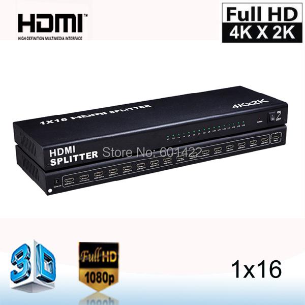 4К*2K16 порт 1 1х16 в 16 из HDMI Разветвитель аудио-видео 1080p HD на HDTV и 3D-моделирования DVD_DHL