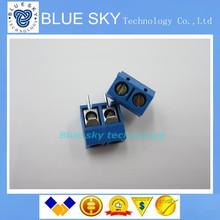 new 100PCS 2 Pin Screw Terminal Block Connector 5.08mm Pitch(China (Mainland))