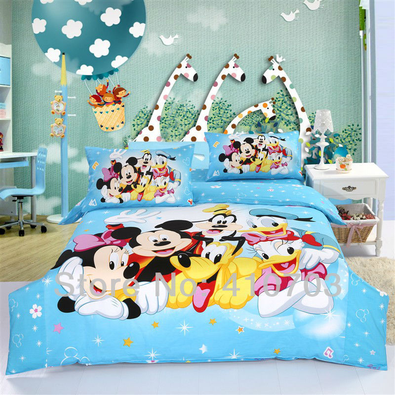 Com buy mickey and minnie mouse with pluto friends bedding