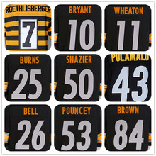 Shop Discount MENS #7 Ben Roethlisberger#10 Martavis Bryant#11 Markus Wheaton#25 Artie Burns#26 Le'Veon Bell#43 TROY POLAMALU# J(China (Mainland))