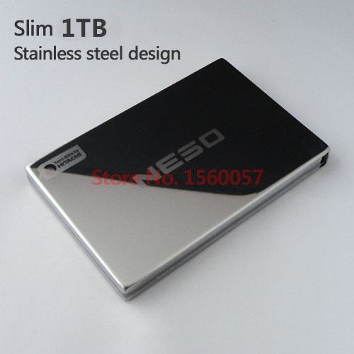 Free shipping NESO Mobile HDD 1TB External Hard Drive 1000GB Wholesale 2.5'' Portable Hard Disk USB2.0 Stainless steel design(China (Mainland))