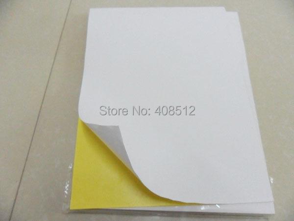 Self adhesive A4 blank copy paper/matt white paper/woodfree label for laser/inkjet printer(China (Mainland))