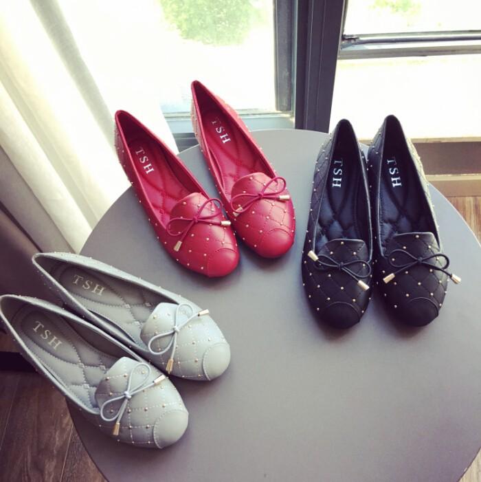Yeni varış daireler düz ayakkabı kadın Düz Bale ayakkabıları rahat ayakkabılar Yassı-A816-33-afashion kadın ayakkabı