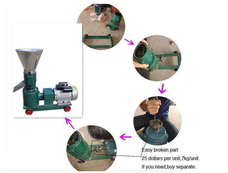 Купить 4квт, 150 модель древесных гранул мельница машина, фрезерный станок wood, wood pellet producer, без мотора