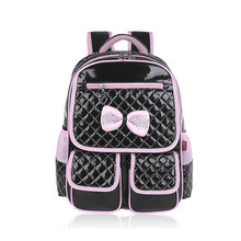 cute schoolbags school backpacks beautiful orthopedic school bags for girls Korean style student bag girl pink leather backpack(China (Mainland))