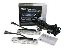De aluminio de vivienda 12 V / 10 W Auto 5LED LED luz de circulación diurna, LED diurna 2 unids/lote + China post el envío gratuito(China (Mainland))