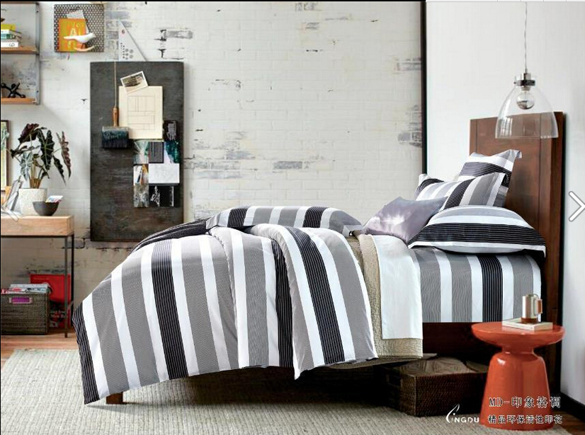 Black And Grey Striped Bedding Pictures To Pin On