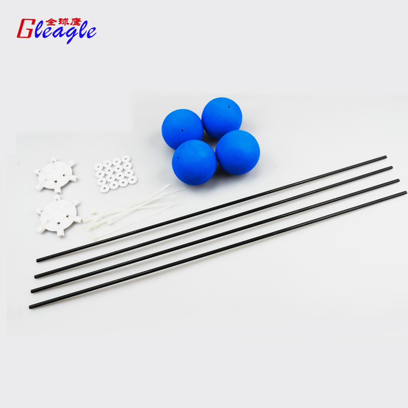 Free Shipping Landing Training crash kit With Blue Sponge Balls For RC 450/480 3D Heli Helicopter blue color Landing train(China (Mainland))