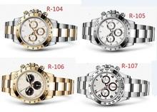 2015 NEW Luxury Brand hombres de Daytona mecánico moda movimiento automático relojes de acero inoxidable reloj de hombre
