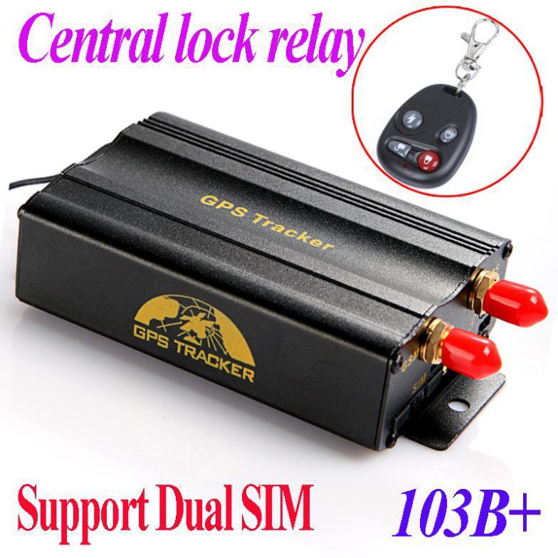 Dual SIM card Port GPRS GSM Vehicle Car GPS Tracker + Remote Control Real-time Tracking + Central Alarm Google Map TK103B+(China (Mainland))