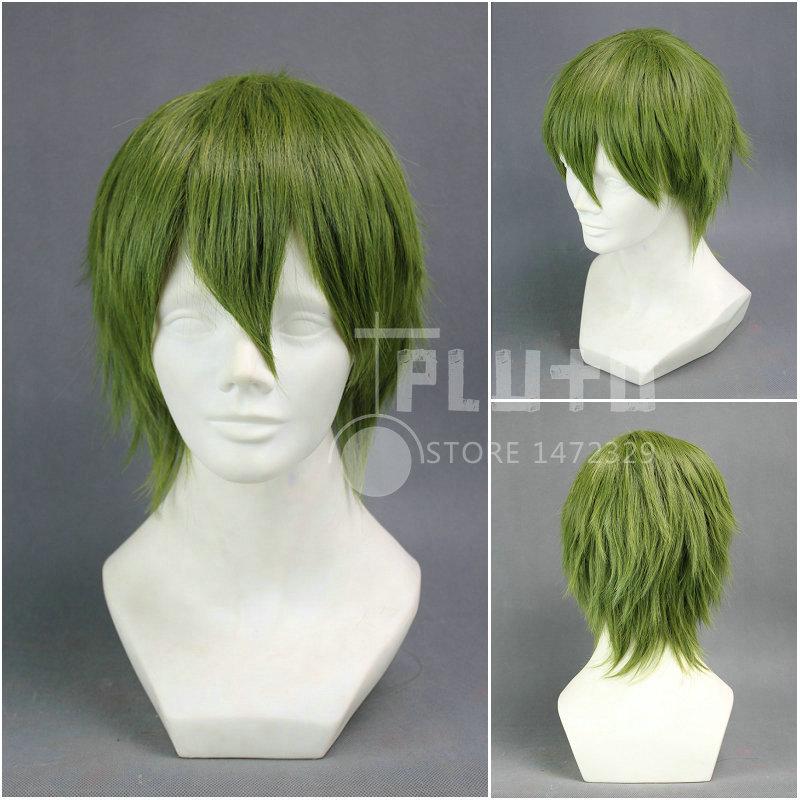 Kuroko No Baskerball Midorima Shintaro Cos Wig Green Straight Short 35cm Synthetic Hair Pluto P017D<br><br>Aliexpress