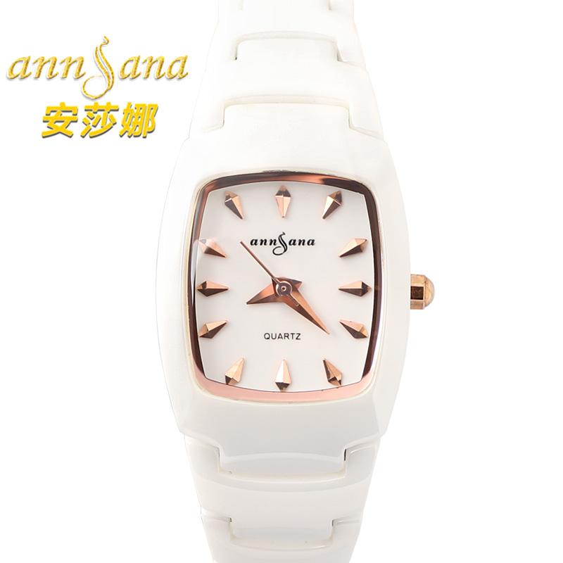 ANNSANA Germany luxury brand diamond jewelry watches black ceramic quartz watch female table retro thin white relogio feminino<br><br>Aliexpress