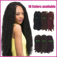 Wholesale 3pcs/lot Nina Softex Dread Synthetic Kanekalon Fiber Braiding Hair For Black Women Crochet Hair Extensions Twists
