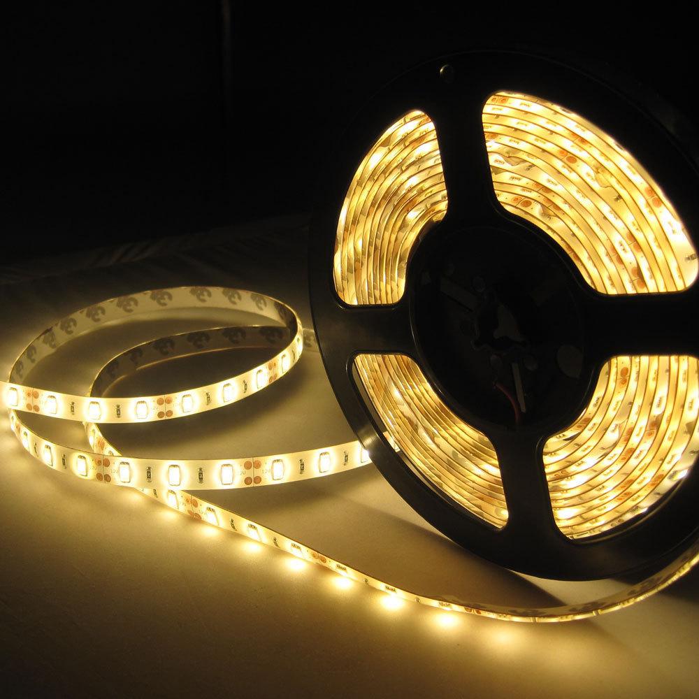 Free 5m/set DC12V 5630 SMD LED flexible Tape 60 leds/m cool white/warm white/red/blue/green led strip light home