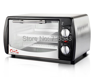 Household Baking Mini Oven 12L Stainless Steel Housing Glass Electric Oven Cake Toaster Kitchen Appliances(China (Mainland))