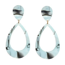 New Fashion Mix Color Leopard Print Acrylic Acetic Acid Geometric Circle Square Long Drop Earrings for Women Jewelry Accessories(China)