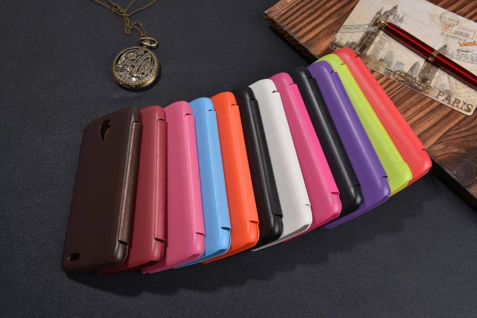 New Arrival High quality Leather Case Flip Luxury Mobile Phone Cover protective cover holster case for Lenovo S820(China (Mainland))