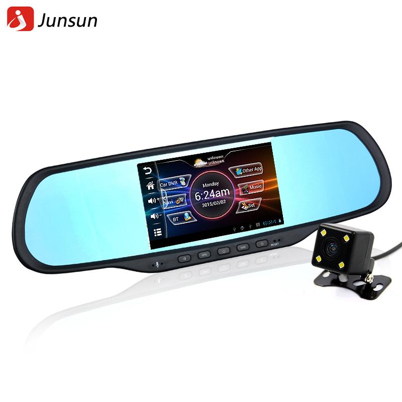 Новый 5-дюймовый HD андроид автомобиль GPS навигации 1080p DVR рекордер+Камера заднего вида+громкая связь Bluetooth зеркало заднего вида 2014 Бесплатная карта
