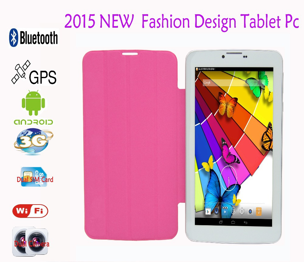 "7 Inch Android Tablets Pc WiFi GPS Bluetooth Leather holeter 3G Phone Call inch"" Tablet pc 512MB+4GB Dual core camera FM """
