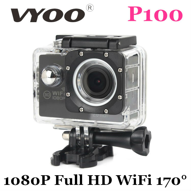 New Arrival vyoo Brand P100 Sport Camera Wifi 1080P Full HD Waterproof Camera 170 Wide Angle Action Cam H9 H9R go pro(China (Mainland))