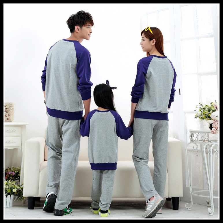 Осень семья соответствующие одежда длинная