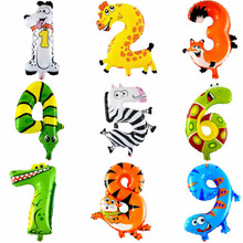 Brand new 1pc 16inch Animal Number Balloons air balloons Birthday supplies baloon Party kids Gift Wedding Decoration(China (Mainland))