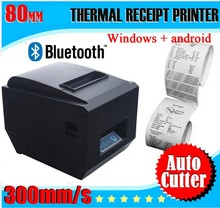 80mm Thermal Printer Wireless Bluetooth POS Printer Windows Android Mobile Printer with Automatic cutter_DHL(China (Mainland))